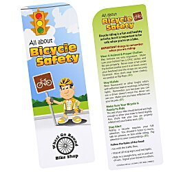 View a larger, more detailed picture of the Just the Facts Bookmark - Bicycle Safety