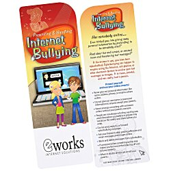 View a larger, more detailed picture of the Just the Facts Bookmark - Internet Bullying