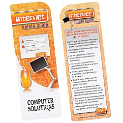 View a larger, more detailed picture of the Just the Facts Bookmark - Internet Safety