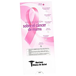 View a larger, more detailed picture of the Breast Cancer Awareness Pocket Slider - Spanish