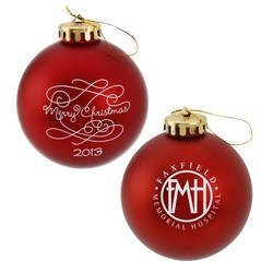View a larger, more detailed picture of the 3-1 4 Round Ornament - Swirl - Merry Christmas