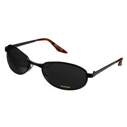 View a larger, more detailed picture of the Oval Wrap Gunmetal Sunglasses - Closeout