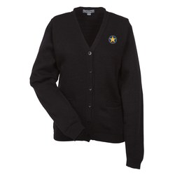 View a larger, more detailed picture of the Acrylic V-Neck Cardigan with Pockets - Ladies - 24 hr