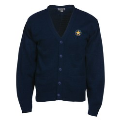 View a larger, more detailed picture of the Acrylic V-Neck Cardigan w Pockets - Men s - 24 hr