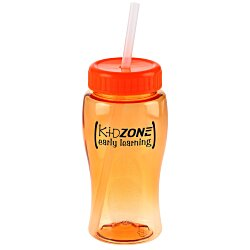 View a larger, more detailed picture of the Poly-Pure Lite Bottle with Straw Lid - 18 oz