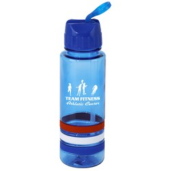 View a larger, more detailed picture of the Patriotic Stripe Sport Bottle - 24 oz