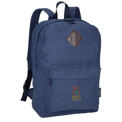 View a larger, more detailed picture of the Field & Co Classic Laptop Backpack - Embroidered