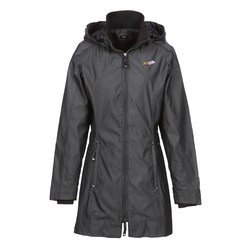 View a larger, more detailed picture of the OGIO Dobby Hooded Soft Shell Jacket - Ladies