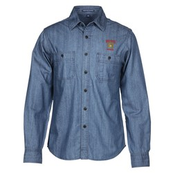 View a larger, more detailed picture of the Patch Pocket Denim Shirt - Men s