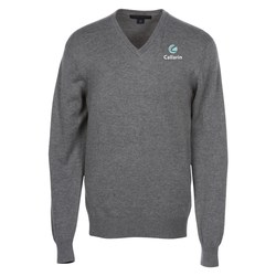 View a larger, more detailed picture of the Fine Gauge V-Neck Sweater - Men s