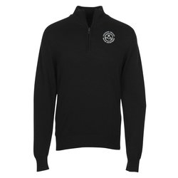 View a larger, more detailed picture of the Fine Gauge 1 2 Zip Sweater Pullover