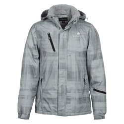 View a larger, more detailed picture of the Brushstroke Hooded Insulated Jacket - Men s