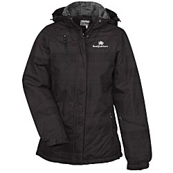 View a larger, more detailed picture of the Brushstroke Hooded Insulated Jacket - Ladies