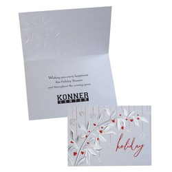 View a larger, more detailed picture of the Holiday Red Berries Greeting Card -