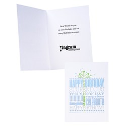 View a larger, more detailed picture of the Announcing Your Birthday Greeting Card