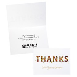 View a larger, more detailed picture of the Business Thanksgiving Greeting Card