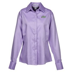 View a larger, more detailed picture of the Refine Wrinkle Free Royal Oxford Dobby Shirt - Ladies