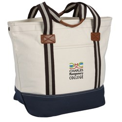 View a larger, more detailed picture of the Heritage Supply Catalina Cotton Tote - Embroidered
