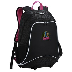 View a larger, more detailed picture of the Mia Sport Laptop Backpack- Embroidered