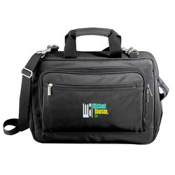 View a larger, more detailed picture of the Microfiber Laptop Bag - Embroidered