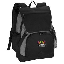 View a larger, more detailed picture of the Pike Laptop Backpack - Embroidered