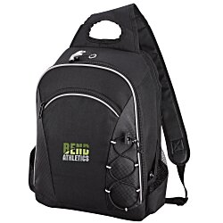 View a larger, more detailed picture of the Summit Checkpoint-Friendly Laptop Sling - Emb