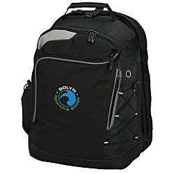 View a larger, more detailed picture of the Summit Checkpoint-Friendly Laptop Backpack - Emb
