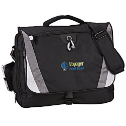View a larger, more detailed picture of the Slope Laptop Messenger Bag - Embroidered