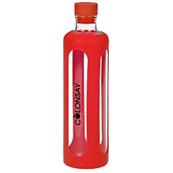 View a larger, more detailed picture of the Silicone Wrap Glass Bottle - 20 oz