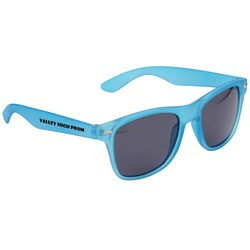 View a larger, more detailed picture of the Silky Smooth Retro Sunglasses - Translucent