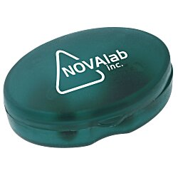 View a larger, more detailed picture of the Oval Pill Box - Translucent