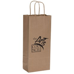 View a larger, more detailed picture of the Natural Kraft Shopping Bags - 13 x 5-1 2