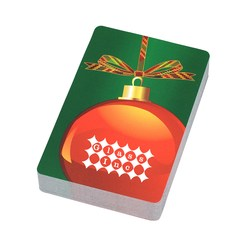 View a larger, more detailed picture of the Holiday Playing Cards - Ornament