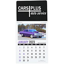 View a larger, more detailed picture of the Muscle Car Stick Up Calendar - Rectangle