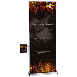 View a larger, more detailed picture of the Barracuda Retractable Banner w Literature Pocket