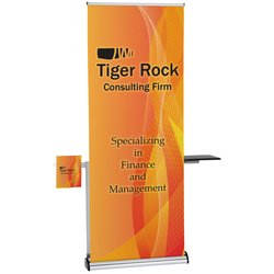 View a larger, more detailed picture of the Barracuda Retractable Banner w Table & Literature Pocket