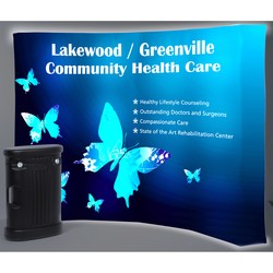 View a larger, more detailed picture of the Backlit HopUp Curved Floor Display - 10