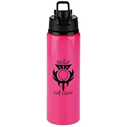 View a larger, more detailed picture of the h2go Surge Aluminum Sport Bottle - 28 oz Neon