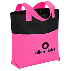 View a larger, more detailed picture of the Neon Two-Tone Accent Tote
