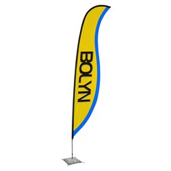 View a larger, more detailed picture of the Indoor Sabre Sail Sign - 17 - One Sided