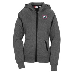 View a larger, more detailed picture of the Lund Bonded Fleece Full Zip Hoodie - Ladies - Embroidery