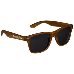 View a larger, more detailed picture of the Risky Business Sunglasses - Wood Grain - 24 hr