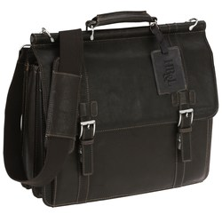 View a larger, more detailed picture of the Kenneth Cole Columbian Leather Dowel Laptop Bag