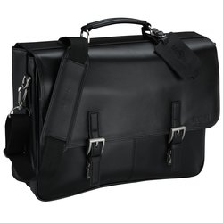 View a larger, more detailed picture of the Kenneth Cole Manhattan Leather Laptop Messenger