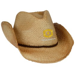 View a larger, more detailed picture of the Natural Raffia Straw Cowboy Hat