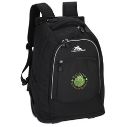 View a larger, more detailed picture of the High Sierra Chaser Wheeled Laptop-Backpack - Embroidered