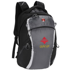 View a larger, more detailed picture of the Wenger Shield Scan Smart Laptop Backpack - Embroidered