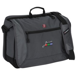View a larger, more detailed picture of the Wenger Spirit Laptop Messenger - Emb