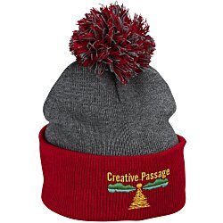 View a larger, more detailed picture of the Pom Pom Knit Hat