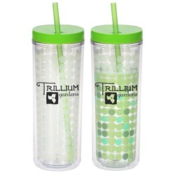 View a larger, more detailed picture of the Ice Chameleon Tumbler w Straw - 16 oz